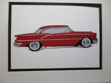 1956 Oldsmobile 88 Holiday     Artist Illustrated  American Express Auto Exhibit