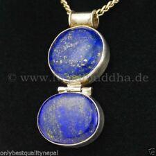 Collares y colgantes de joyería con gemas lapislázuli plata