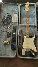 Peavey Raptor 1 Electric Guitar & ibanez hard Case black white & extras