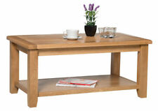 Country Wood Less than 60cm Coffee Tables with Shelves