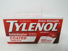 TYLENOL EXTRA STRENGTH 500 MG ACETAMINOPHEN 100 COUNT COATED TABLETS