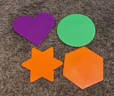Perler® Beads 4 Large Pegboards Various Shapes - Heart, Star, Circle, Hexagon