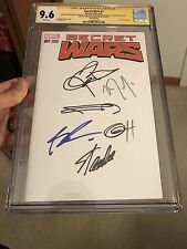 Secret Wars #1 blank variant CGC 9.6 SS X6 Stan Lee, Miller, Renner, Liefeld