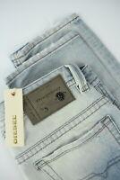 RRP €260 DIESEL THAVAR 0825M Men's W30/L32 Slim Skinny Ripped Blue Jeans 7322*mm