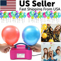 Portable Electric Balloon Pump High Power Two Nozzle Air Blower Inflator Party