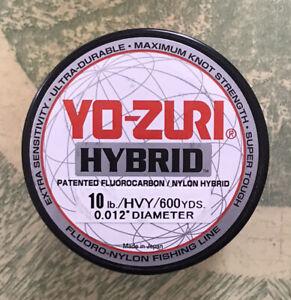 Yo-zuri Hybrid Fluorocarbon Fishing Line 10lb Hivis Yellow 600yd