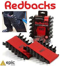 Redbacks Caucho Ballesta Flexible Almohadillas para Rodilla Inserciones Para