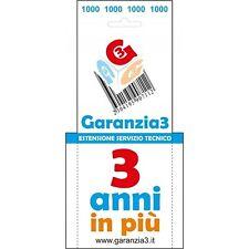 ESTENSIONE SERVIZIO TECNICO GARANZIA 3 MASSIMALE 1000 EURO