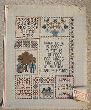 Susan Treglown Sampler Handpainted Needlepoint Canvas B78 When Love is Great