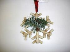 Pack 6 New 4.5in 'Rustic' Snowflakes Ornaments Christmas Decorations Joblot!