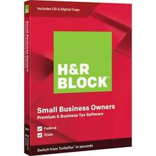H&R Block Premium & Business Tax Software for Mac/Windows - Sealed Package