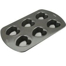Stampo In Alluminio Antiaderente Per Mini Torte A Cuore 6 Cavità Wilton