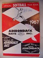 Adirondack Bats, Inc. 1967 Official Softball Rule Book Paperback Book