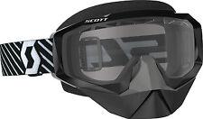 Scott USA Hustle Snowcross Goggles (Black/White / Clear Lens) 262582-1007043