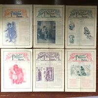 1898 PICTURE LESSON PAPER lot of six issues SUNDAY SCHOOL and CHURCH Children's