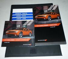 2014 DODGE CHALLENGER USER GUIDE OWNERS MANUAL SET DVD 14 SRT +case
