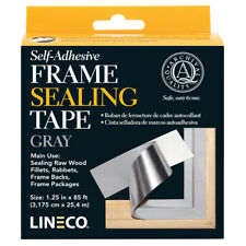 """Gray Frame Sealing Tape 1.25"""" X 85' Self Adhesive, by Lineco, (Bin 302-A)"""