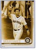 Edgar Martinez 2019 Topps Update Variations 5x7 Gold #US283 /10 Mariners