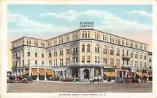 High Point North Carolina Elwood Hotel Street View Antique Postcard K18361