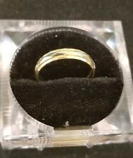 14kt mens white and gold band LOT H
