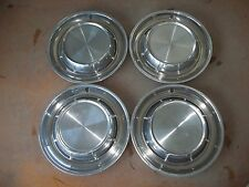"1957 57 Pontiac Hubcap Rim Wheel Cover Hub Cap 14"" OEM USED SET 4"