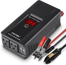 POTEK 500W Power Inverter DC 12 V to 110V AC Car Converter with Digital Display
