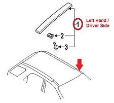 2005-2010 Kia Sportage Left Roof Molding OEM # 87210-1F001 - Driver Side