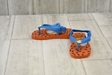 *Havaianas Flintstones Flip Flops - Toddler's Size 7 - Orange/Blue