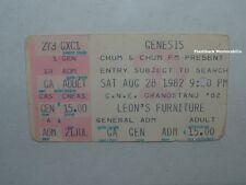 GENESIS Concert Ticket Stub 1982 CNE GRANDSTAND Toronto PHIL COLLINS Very Rare