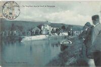 CPA 89 TONNERRE UN TORPILLEUR DANS LE CANAL DE BOURGOGNE (rare