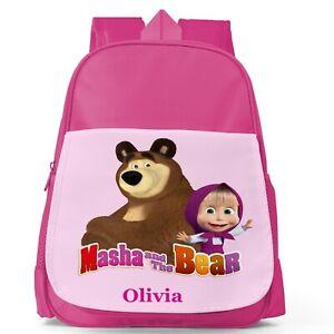 Masha and the Bear Personalised Kids Toddler School Nursery Bag Backpack