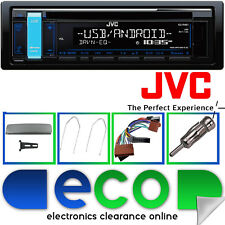 FORD Mondeo mk2 JVC Auto Stereo CD mp3 USB & Volante Interfaccia Kit d'argento