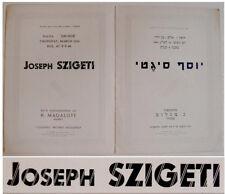 1935 Palestine JOSEPH SZIGETI Violinist RECITAL PROGRAM Violin MAGALOFF Pianist