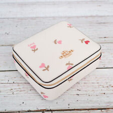 NWT Coach C2904 Large Jewelry Box in Heart Floral Print