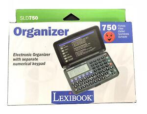 Lexibook SLD 750 Electronic Pocket Organiser Vintage Brand New & Boxed