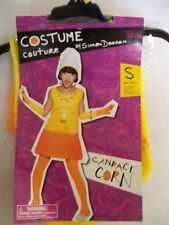 NEW Girls Candy Corn Halloween Costume Size 3 & up Dress Tights Hat Gloves