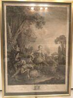 """Kupferstich François Boucher (1703-1770) - """"La Pêche"""" ca. 1775"""