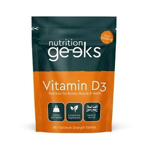 Vitamin D 1000IU Tablets | 180 Vitamin D3 Supplements High Strength, 6 Months
