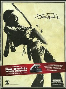 Jimi Hendrix Signature Dunlop Cry Baby Wah Guitar Effects Pedal 2007 ad print