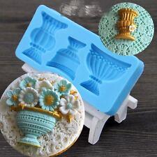 Vintage Silicone Fondant Mould Cake Mold Soap Baking Sugarcraft Decorating Tool