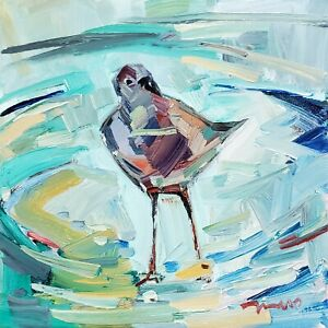 JOSE TRUJILLO Oil Painting IMPRESSIONISM BIRD COLLECTIBLE FINE ART MODERN ARTIST