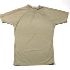 DRI-DUKE Mens Shirt Large Moisture Management Tight Fit Short Sleeve Sand 65