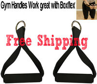 1PAIR GYM HANDLES - Universal Attachment Stirrup Home Bowflex Replacemet Dhandle