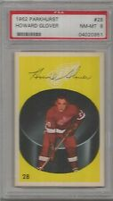 1962 Parkhurst Hockey Howard Glover Card # 28 PSA 8 Near Mint - Mint
