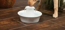70oz  Pet Water Fountain, Ceramic Drinking Fountain for Cats and Dogs AC POWER