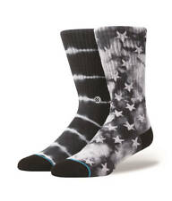 STANCE MEN'S GUYS PATRIOT Socks MIX MATCH BLACK COLOR SIZE LARGE NEW