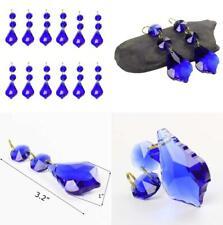 BIHRTC Pack of 12 Amber Crystal Teardrop Chandelier Prisms Pendants...