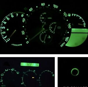 Green Cluster/Climate Control/Keyring LED Bulb Kit For Lexus IS300 2001-2005