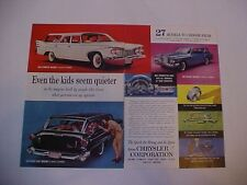 original vintage 1960 Chrysler Corporation Valiant/Plymouth/Dodge full-color ad
