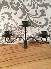 Wine Bottle Cork Stopper 3 Candle Holder Iron Look #382